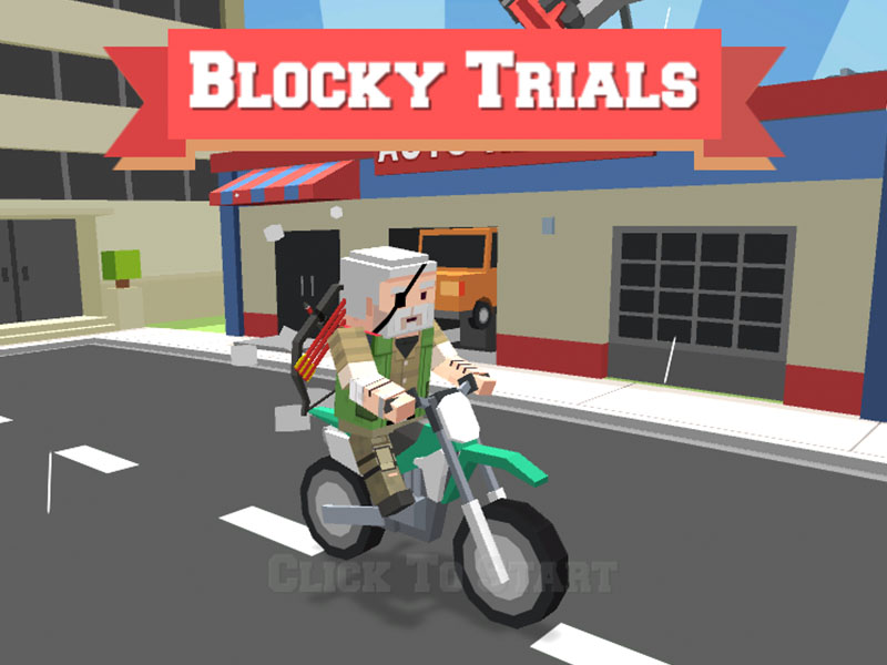 Play Blocky trials Game