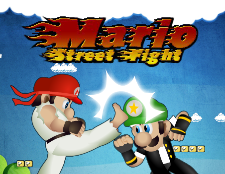 Play Mario street fighter Game