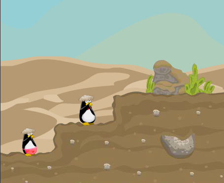 Play Penguin Couple Adventure Game